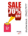 online store  sale 70  off ... | Shutterstock .eps vector #296217977