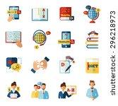 different languages translator...   Shutterstock .eps vector #296218973