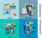 hire design concept set with...   Shutterstock .eps vector #296220533