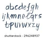 vector alphabet. hand drawn... | Shutterstock .eps vector #296248937