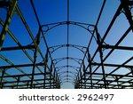 old industrial steel structure... | Shutterstock . vector #2962497