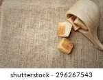 Breads On Background Of Brown...