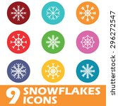 nine colored round icons with...