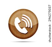 wooden telephone receiver...