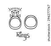linear diamond wedding... | Shutterstock .eps vector #296277767