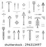 set of geometric shapesand... | Shutterstock .eps vector #296313497
