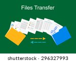 files transfer illustration.... | Shutterstock .eps vector #296327993