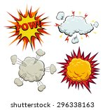 boom  explosion and pow set.... | Shutterstock .eps vector #296338163