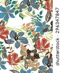 floral seamless pattern  ...   Shutterstock .eps vector #296347847