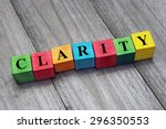 word clarity on colorful wooden ... | Shutterstock . vector #296350553