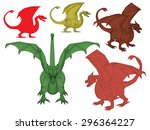 vector illustration set of... | Shutterstock .eps vector #296364227