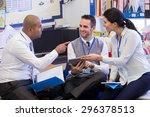 school teachers gather in a... | Shutterstock . vector #296378513
