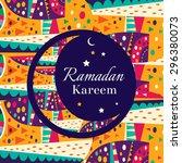 ramadan kareem beautiful... | Shutterstock .eps vector #296380073