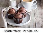Chocolate Cupcakes With A Cup...