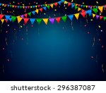 holiday celebration background... | Shutterstock .eps vector #296387087