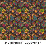 vector seamless pattern with... | Shutterstock .eps vector #296395457