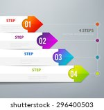 four steps infographics   can... | Shutterstock .eps vector #296400503