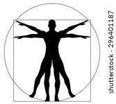 Vitruvian Human Or Man As A...