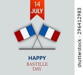 vector illustration 14th july... | Shutterstock .eps vector #296412983