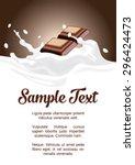 package splash milk with... | Shutterstock .eps vector #296424473