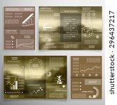 business graphics brochures | Shutterstock .eps vector #296437217