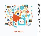 electricity concept design on...