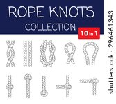 vector rope knots collection.... | Shutterstock .eps vector #296461343