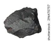 Black Coal Isolated On White...