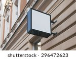 photo blank signboard on the... | Shutterstock . vector #296472623