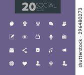 trendy flat design social icons