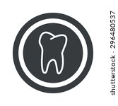 image of tooth in circle  on...