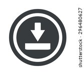 image of download symbol in...