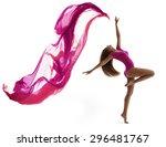 woman dancing in sport leotard  ... | Shutterstock . vector #296481767