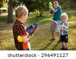 Boys Having Fun Playing With...