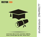 graduation cap vector icon | Shutterstock .eps vector #296498177