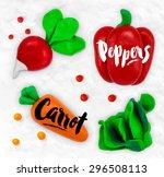 plasticine modeling vegetables... | Shutterstock .eps vector #296508113