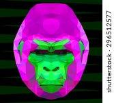 Abstract Gorilla Head....