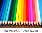 colored pencils lie on the