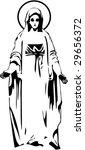 The Vector Virgin Mary Statue...