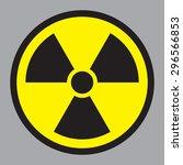 radioactive sign | Shutterstock .eps vector #296566853