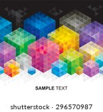 abstract geometric colors cube... | Shutterstock .eps vector #296570987