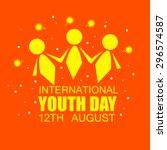 international youth day | Shutterstock .eps vector #296574587