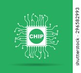 chip icon  isolated ...