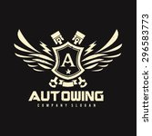 auto wing vector logo symbol | Shutterstock .eps vector #296583773