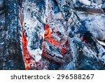 embers of a self made campfire  ... | Shutterstock . vector #296588267