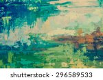 Oil Paint Texture. Grunge Gree...