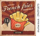 French Fries Vintage Backgroun...