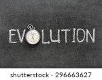 evolution word handwritten on...   Shutterstock . vector #296663627