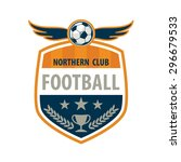 football badge logo template... | Shutterstock .eps vector #296679533