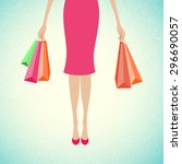 Woman Holding Shopping Bags....